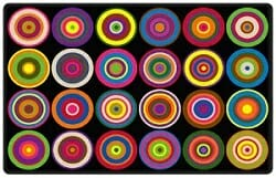 Color rings classroom seating rug