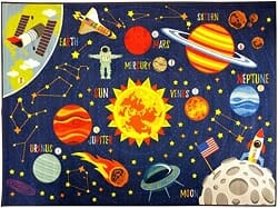 KC Cubs Playtime Collection solar system area rug