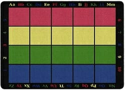 Learning grid classroom seating rug