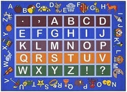 Ottomanson Jenny Collection rug with alphabet area