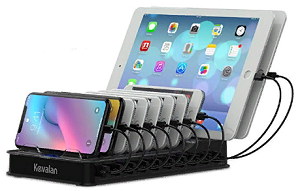 Kavalan 10 Port USB Charging Station Dock & Organizer