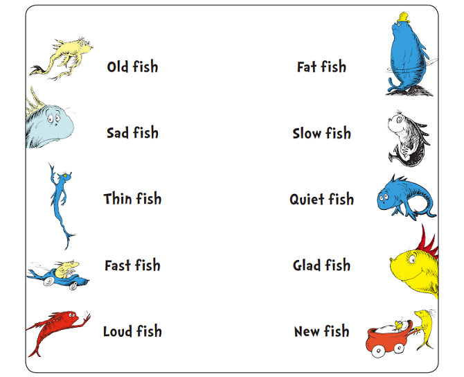 Opposites with Old Fish, New Fish