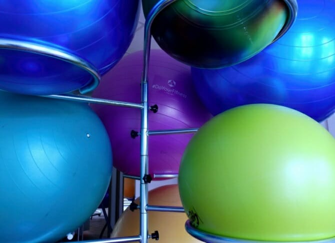 Stability balls for classroom
