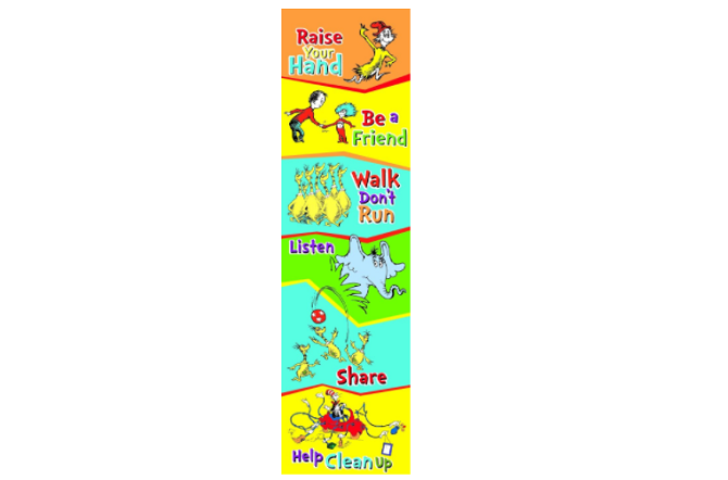 Eureka Dr. Seuss Back to School Rules Poster
