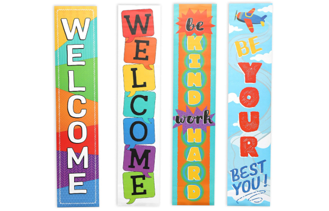 Juvale Store Welcome Banner Signs