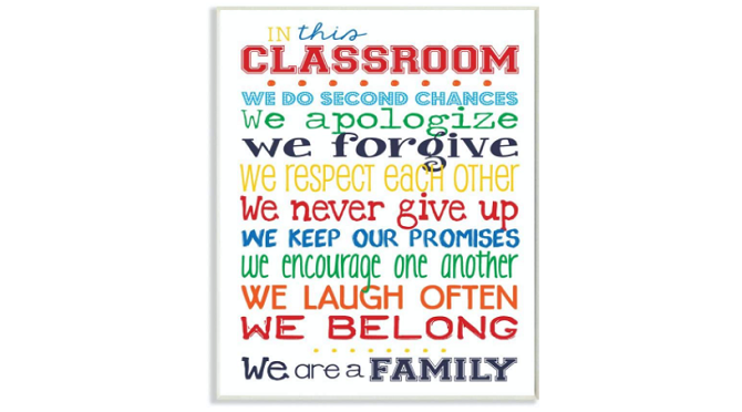 Stupell Classroom Rules Poster